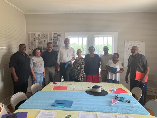 Chicago businessman and educator Stedman Graham visited Bladen and Columbus counties the last weekend in May, 2019 to serve as the facilitator at two community meetings, aimed at identifying and creating opportunities to support the youth in the community; and brainstorming possible initiatives to assist aging seniors .