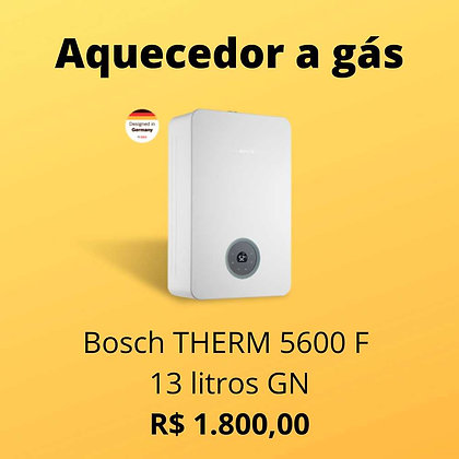 Aquecedor a Gás Bosch THERM 5600F 13L GN