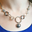 Thumbnail: Dganit Hen Open Link Necklace - Silver, Silver Oxide, Gold Detail