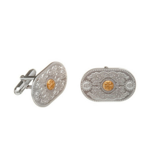 House of Lor Cufflinks - Sterling Silver & Irish Gold