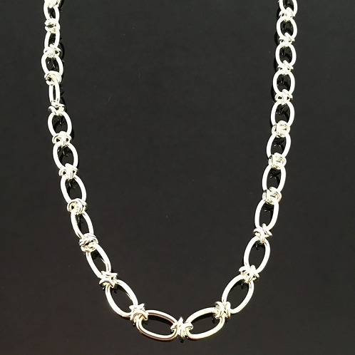 Link Knot Chain - Sterling Silver