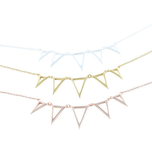 Sterling Silver Seaside Bunting Necklace