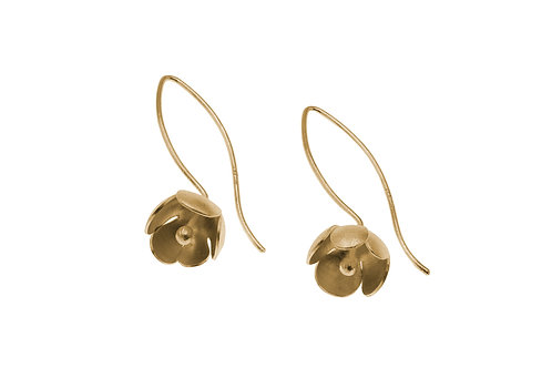 Deco Echo Single Flower Drop Earrings
