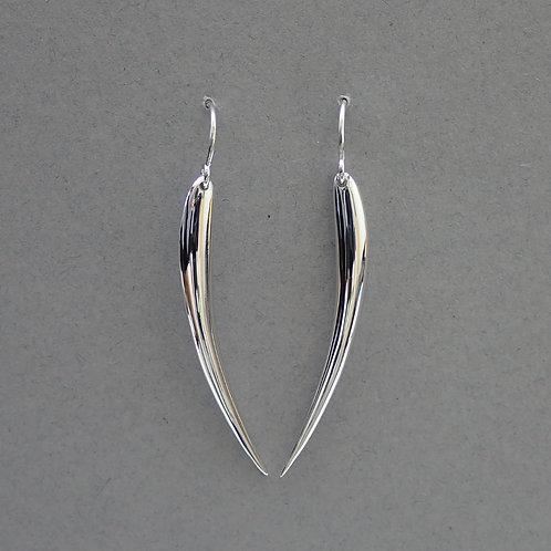 Silver Bar Drop Earrings - Sterling Silver