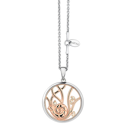 ASTRA HARMONY MAYA PEACE ROSE GOLD NECKLACE SEA OCEAN DIVING MARINE GIFT