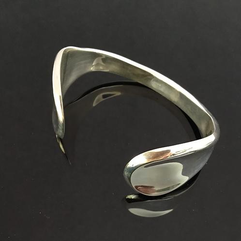 'Flare' Sterling Silver Cuff Bangle