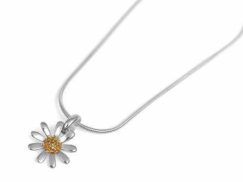 daisy sterling silver & gold vermeil necklace