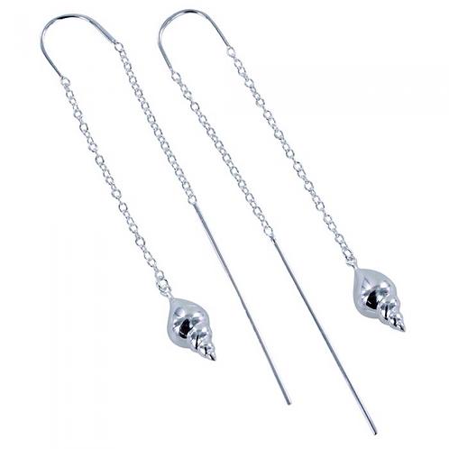 Hanging shell earrings