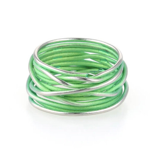 Titanium Chaos Ring -  Green