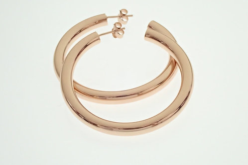 5cm Rose Gold Hoop Earrings - Rose Gold Plated Sterling Silver