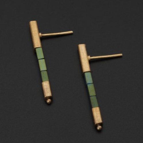 Deco Echo Green Haematite Earrings