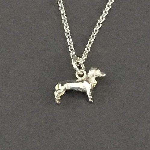 Dachshund/Sausage Dog Necklace - Sterling Silver