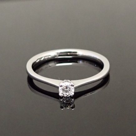 0.15ct  Diamond Solitaire Ring - Platinum