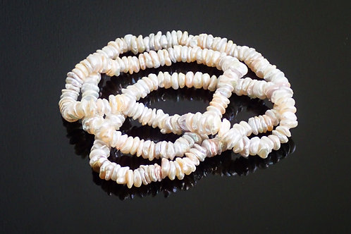 "32"" Long Rope of Baroque Freshwater Disc Pearls"