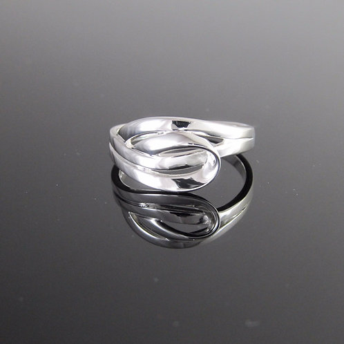 contemporary sterling silver Entwined ring