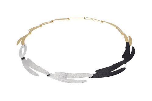 Deco Echo Leaf Necklace - Sterling Silver