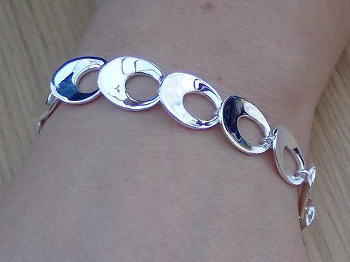 Open Oval Bracelet - Sterling Silver