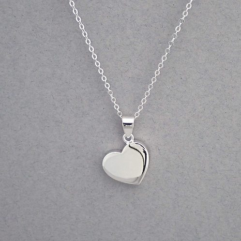 Silver Heart Necklace - Sterling Silver