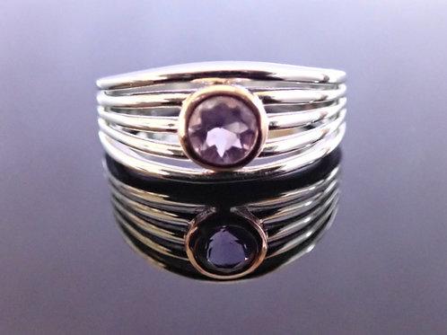 Amethyst, rose gold, ring, ranger