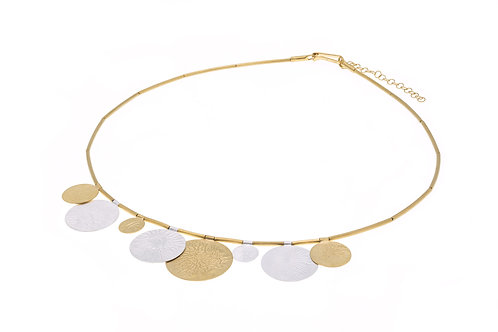 Deco Echo Disc Necklace - Sterling Silver