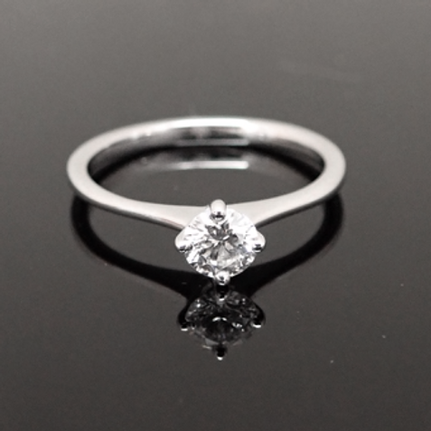 0.42ct Single stone Diamond ring. 18ct white gold.