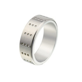 Gents Stainless Steel Ring - Size U 1/2