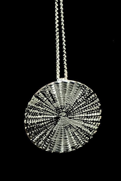 Oyster Shell Disc Necklace - Sterling Silver