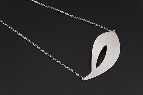 Deco Echo Jacek Szczepański Brushed Silver Necklace