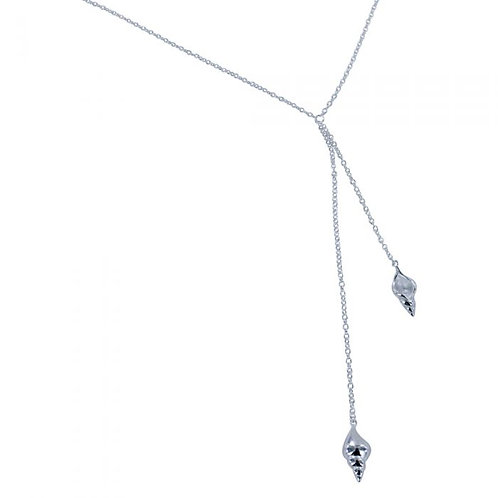 Hanging Shell Necklace - Sterling Silver