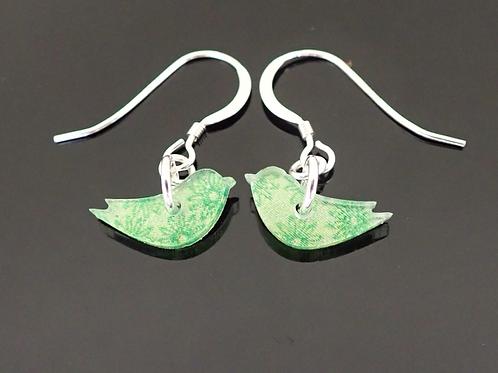 Marmoo Lime Green Bird Earrings - Amanda Cope
