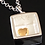 Thumbnail: Gold Heart 'You, Me, We' Pendant - Sterling Silver with 18ct Gold Plating