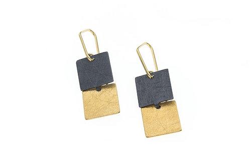 Deco Echo Link Drop Earrings - Sterling Silver