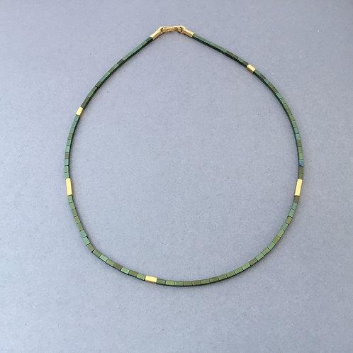 Deco Echo Green Haematite Necklace