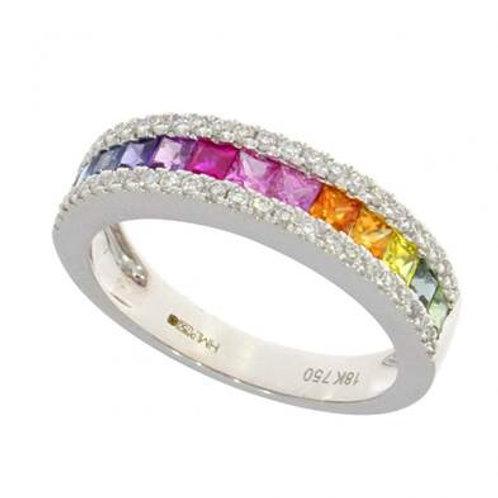 Rainbow Sapphire Ring
