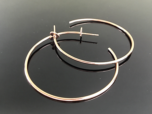 Rose gold plated sterling silver hoop earrings