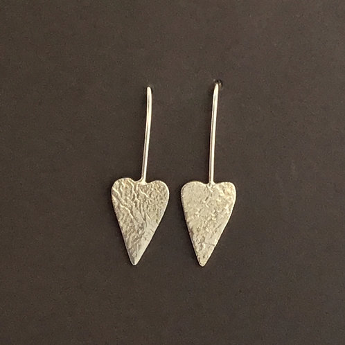 Chris Lewis Designer Heart Earrings   -  Sterling Silver