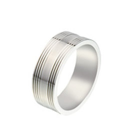 Gents Stainless Steel Ring - Size V1/2