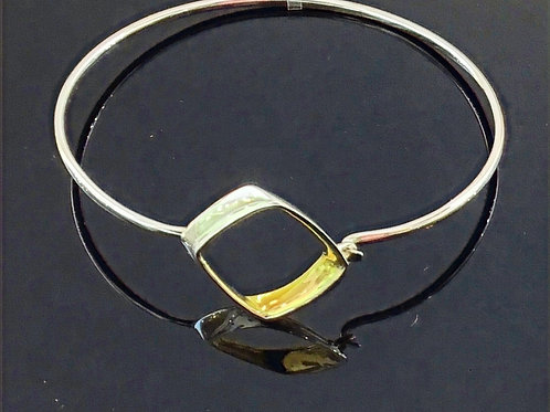 Hook in Bangle - Sterling Silver and Gold Vermeil