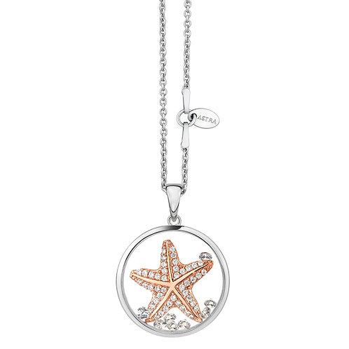 ASTRA HOPEFUL STAR FISH PENDANT NECKLACE ROSE GOLD MAYA HOPE GIFT ANIMAL MARINE SEA