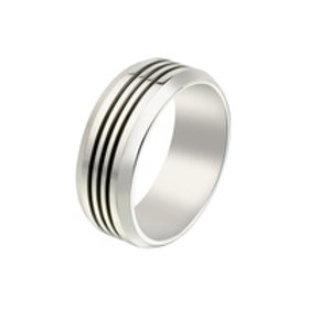 Gents Stainless Steel Ring - Size V 1/2