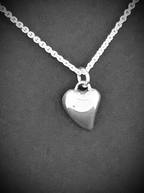 Chris Lewis Heart Necklace  -  Sterling Silver