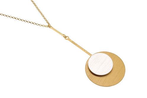 Deco Echo Pendulum Pendant Necklace  - Sterling Silver