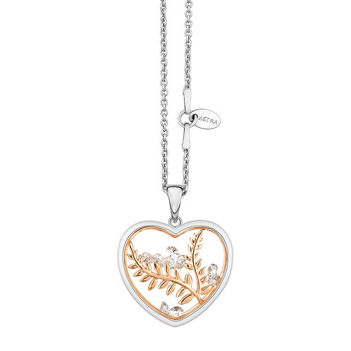 ASTRA PEACEFUL HEART, MAYA COLLECTION, PEACE THEME, ROSE GOLD NECKLACE, GIFT,