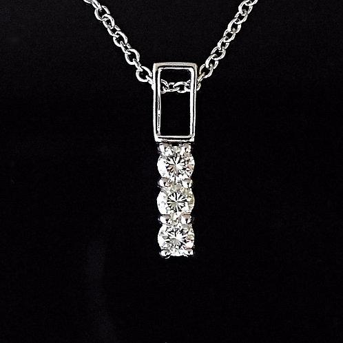 Trilogy Diamond 18ct White Gold Pendant