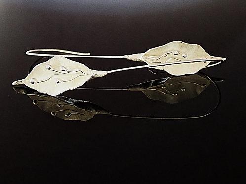 Long Lily Drop Earrings - Sterling Silver
