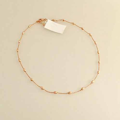 Trace Chain with Facet Beads - Rose Gold Plated