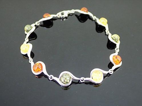 Amber Bracelet - Sterling Silver