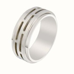 Gents Stainless Steel Ring - Size T