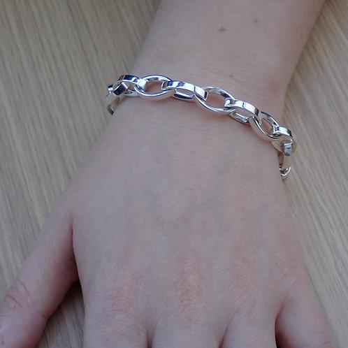 Oval Link Chain Bracelet - Sterling Silver