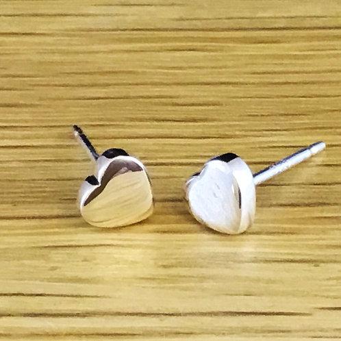 Cute Heart Earrings -  Sterling Silver
